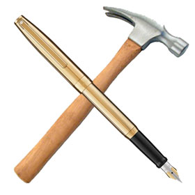 hammer and pen